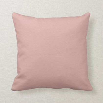 Dusty Rose or Custom Color Throw Pillow
