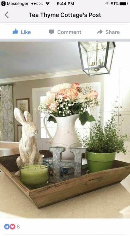Kitchen Table Centerpiece Tray Display 24 New Ideas Spring Easter Decor Spring Home Decor Decor