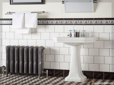Badezimmer Fliesen Ideen Schwarz Weiss 11 Wc