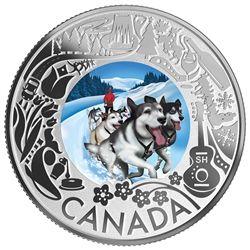 2019 Tulips Fun $3 Pure Silver Proof Coloured Coin Canada Celebrate Festivities