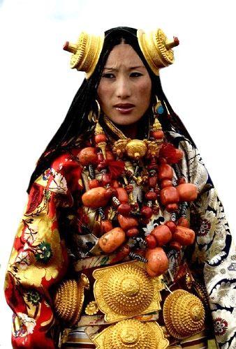 Khampa Tibetan Costume at Litang, Tibet