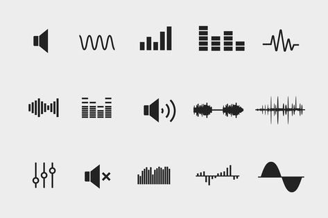 This resource contains fifteen sound wave icons. Included are icons representing sound waves in many different styles, as well as speaker, volume, and mute icons. Provided in various formats for you to drop into your own project, as well as in their original formats for you to change or customise: - PNG: 64px, 128px, 256px, and 512px - SVG for each