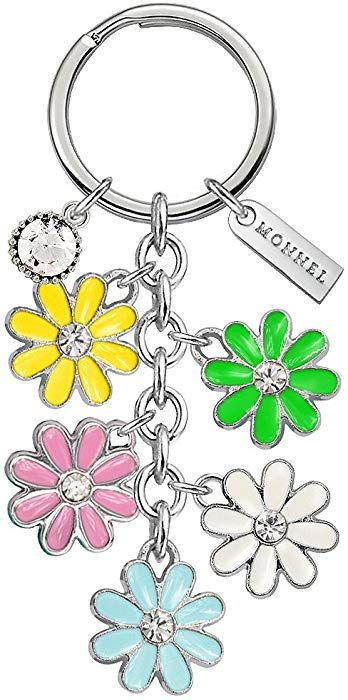 Amazon com: Monnel Brand New 5-color Daisy Flowers Keychain