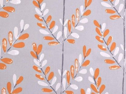 Iliv Scandi Spring Tangerine Fabric Curtain Material Fabric