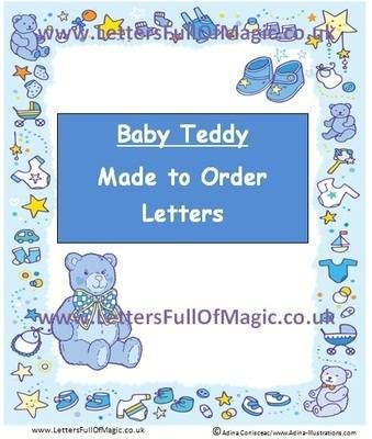 Teddies - Made to order - Charts\/reward charts by Letters Full Of - order letter