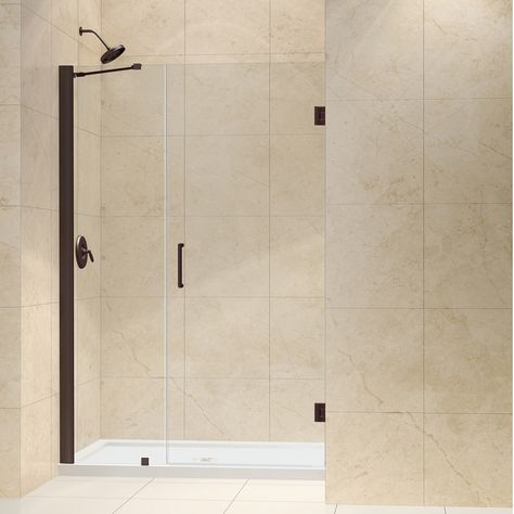 Dreamline Unidoor 43 Inch Min To 44 Inch Max Frameless Hinged