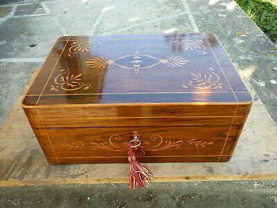 ancienne boite bijoux bois noire