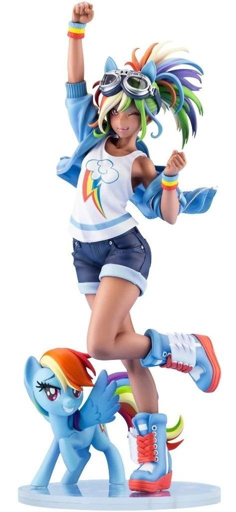 My Little Pony Bishoujo 1 7 Rainbow Dash Pvc Figure In 2020