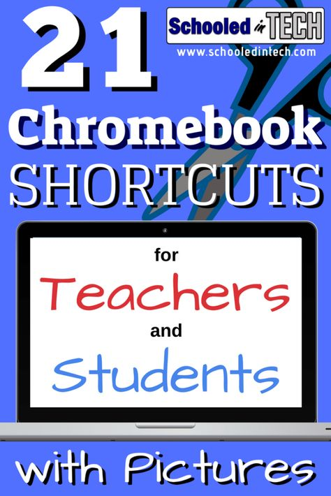21 Chromebook Shortcuts for Teachers and Students with Pictures. These keyboard shortcut technology tips are a great edtech resource for your students. technology Chromebook Shortcuts You'll Use Everyday Teaching Technology, Educational Technology, Technology Humor, Educational Leadership, Business Technology, Medical Technology, Energy Technology, Technology Gadgets, Educational Toys