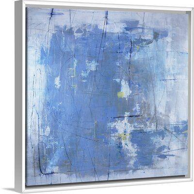 Orren Ellis Nebulous Bash Painting On Canvas Format White Floater Frame Size 21 7 H X 21 7 W X 1 75 D Painting Canvas Art