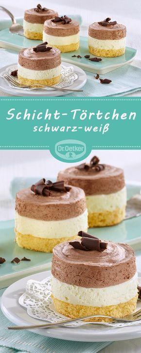 Schicht Tortchen Schwarz Weiss Rezept Kuchen Und Torten Creme Fur Torten Und Einfacher Nachtisch