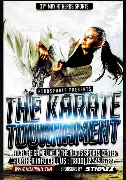 Karate tournament sports flyer have you been from tokyo do you karate tournament sports flyer have you been from tokyo do you know what is karate we will be organizing a karate tournament for you to learn som stopboris Gallery