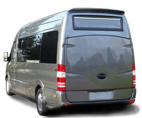 With its Sporthome package, RP Motorhomes removes the rear load doors and installs a fiberglass lift-gate.