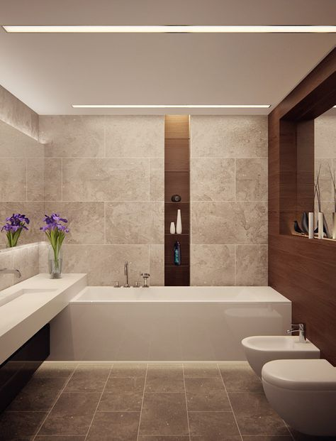 Modernes Badezimmer Mit Licht Modernes Badezimmer Mit Eingebauter Deckenleuchte Salle De Bains Moderne Idee Salle De Bain Design De Salle De Bain