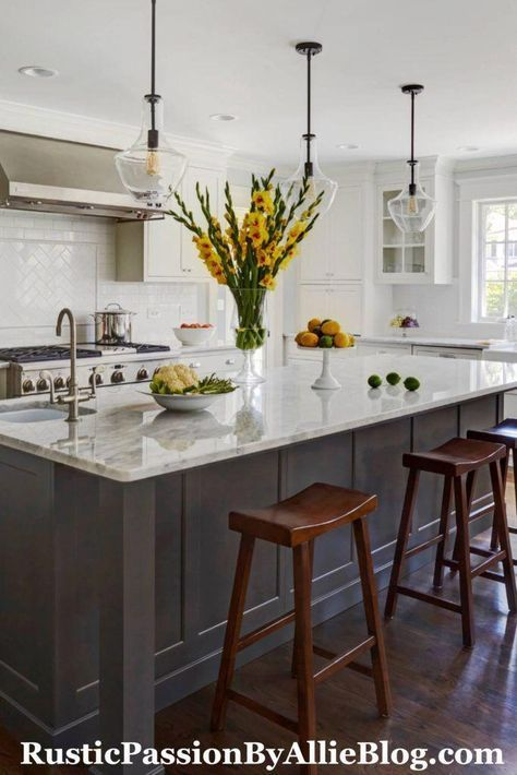 New Farmhouse Kitchen Design Joanna Gaines French Country Ideas Grey Kitchen Island Farmhouse Kitchen Design Kitchen Island With Seating