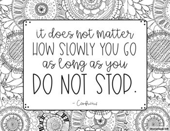 Growth Mindset Inspirational Quotes Doodle Coloring Pages Quote Coloring Pages Hobbies Quote Coloring Pages