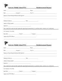 Reimbursement Request Form  Pta    School And Programming