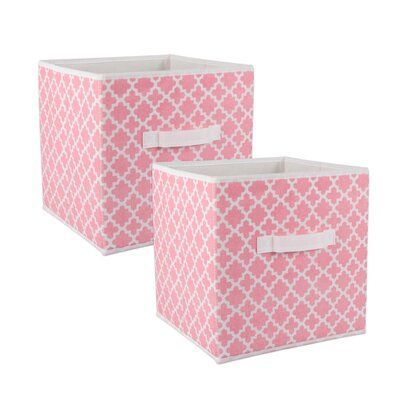 Winston Porter Trung 2 Pieces Fabric Cube Set Fabric Storage Bins Storage Bins Fabric Storage