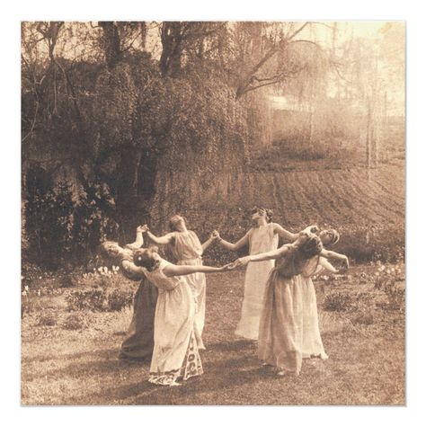 Giclee fine Art Print reproduction from antique Photograph of Women dancing in a circle. This beautiful vintage Photograph is perfect for anyone who wants to add a sense of Mystery and Magic to their Home Decor. Makes a wonderful gift for practicing Witches, Pagans and Wiccans and is sure to be an admired piece to any room! NOTE - Comes standard as a 24x24 but you may also choose your own size. Vintage Witch Photos, Vintage Photographs, Vintage Halloween Photos, A4 Poster, Poster Prints, Wiccan, Prado, Witches Dance, Nature Witch