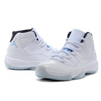 2014 New Air Jordan 11 (XI) Retro White/Black-Legend Blue shoes cheap sale  here with fast delivery.