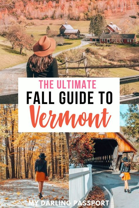 The Ultimate Guide to Vermont in the Fall. How to see Fall foliage in Vermont. Autumn is by far the most gorgeous time to visit Vermont and the rest of new England and see the leaves change. Alberta Canada, Cool Places To Visit, Places To Go, Canada Vancouver, Fall Vacations, New England Travel, Fall In New England, Countries To Visit, Destination Voyage