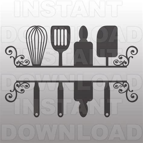 Image Result For Kitchen Utensils Split File Free Svg Cricut