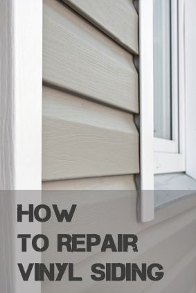 How To Repair Vinyl Siding How To Build It Vinyl Siding Repair Vinyl Siding Cleaning Painted Walls