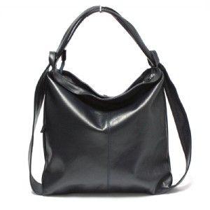 dc7d02627 Kožená kabelka nebo batoh WuKaDor W02 temně tmavě modrý   Tašky ...