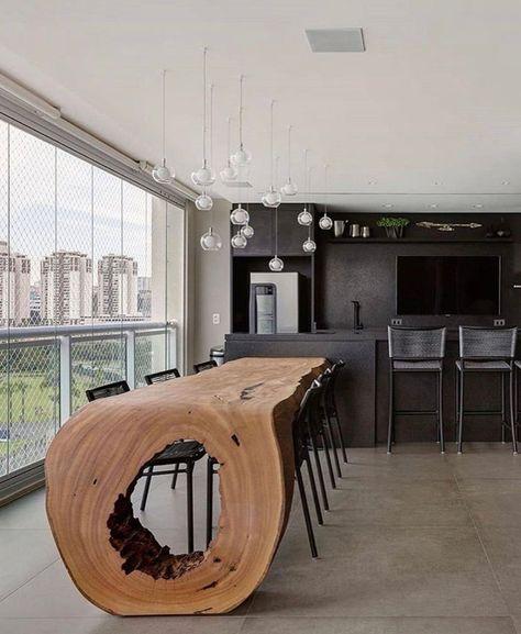Contemporary Kitchen Design, Home Interior Design, Contemporary Kitchen, House Design, Interior Design, House Interior, Curved Table, Home Deco, Modern Kitchen Design