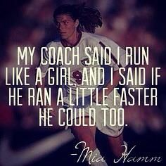 New sport quotes for girls basketball mia hamm 47 Ideas funny gif funny girls funny hilarious funny humor funny memes Mia Hamm, Mma, Run Like A Girl, Girls Be Like, Rugby Feminin, Messi Y Ronaldinho, Citations Sport, Game Day Quotes, Soccer Memes