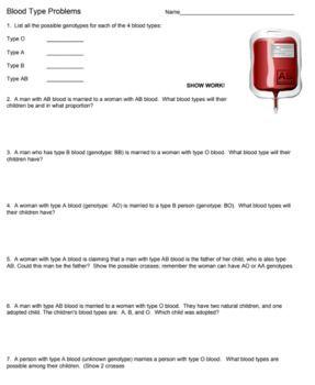Answer Key To Free Worksheet Found At Biol Co Bloodtype Answer Keys Answers Worksheets Free