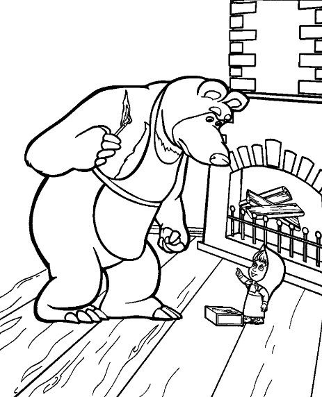 Masha Coloring Pages For Download Bear Coloring Pages Coloring Pages Kids Printable Coloring Pages