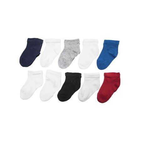 Garanimals Garanimals Assorted Ankle Socks 10 Pack Baby Boys Toddler Boys Walmart Com Pack Baby Toddler Boys Baby Boy