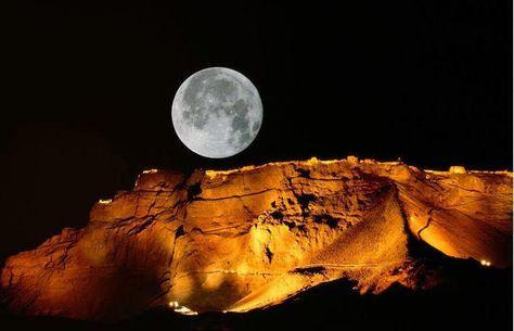 The Moon over Masada