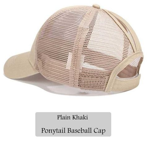71d8aad3 Dad Hat CC Ponytail Snapback Baseball Cap Messy Bun Caps For Women Female  Summer Mesh Trucker Hat 2018 Fashion Girl Hip Hop Hats