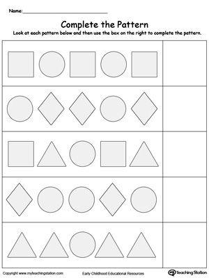 Patterns Worksheets by MummyHen - Teaching Resources - Tes