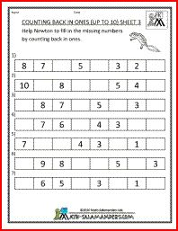 Kindergarten math free printables - sequence & counting, forward ...