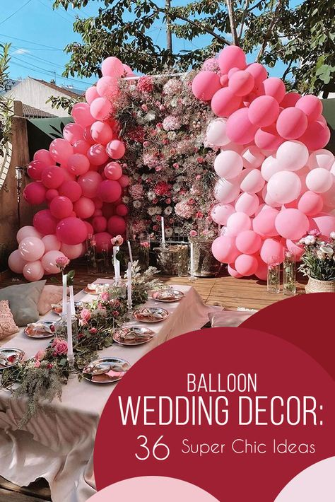 36 Wedding Balloon Decorations Incredible Ideas ❤ We have collected the best wedding balloon decorations ideas from fun backdrops to ceremony aisle decor. Get inspired! #weddings #decor #weddingdecor #balloonwedding #balloonweddingdecorations