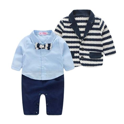 3236bea32c972 New 2016 spring baby clothes baby Gentleman clothing boys long sleeves  clothes baby Bodysuits kids wear boys romper Retail