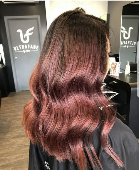 Forget rose gold hair, 2018 is all about the rose brown hair trend.