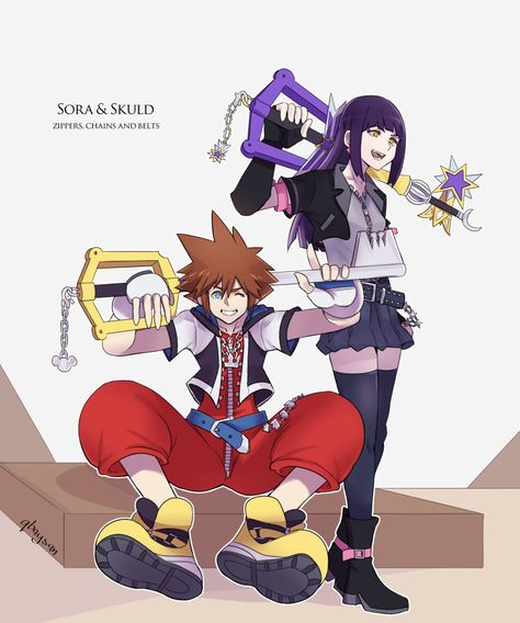 Design-wise, Skuld's clothing pretty much resembles Sora's KH1 clothes, right?