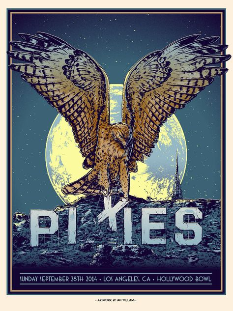 Pixies Los Angeles Poster by Ian Williams Release Details