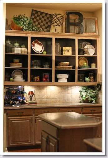 Behindshelvesjpg Photo This Photo Was Uploaded By - Top of kitchen cabinet decor ideas