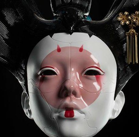 One Winner Will Receive A Ghost In The Shell Themed Geisha Mask And Display Stand And Four Imax Tickets Worth Ghost In The Shell Japanese Mask Futuristic Art
