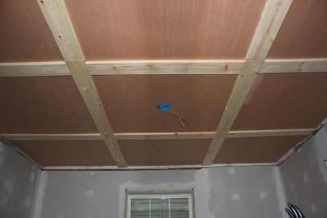 Ditch The Drywall Hanging Plywood Ceiling Panels 6 Steps With Pictures Plywood Ceiling Basement Decor Finishing Basement
