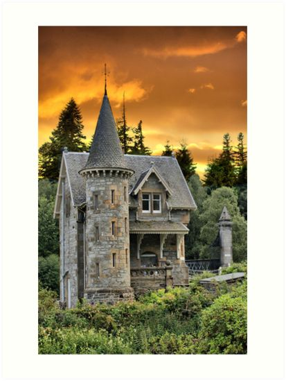 Buy 'Fairytale Castle #2' by Sandra Cockayne as a Poster, Throw Pillow, Tote Bag, Art Print, Canvas Print, Framed Print, Photographic Print, Metal Print, or Greeting Card