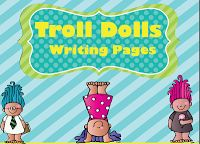 Who doesn't love the troll dolls?? The kids would get such a kick out of these writing pages!! Check out our blog to see how we are going to use these pages.