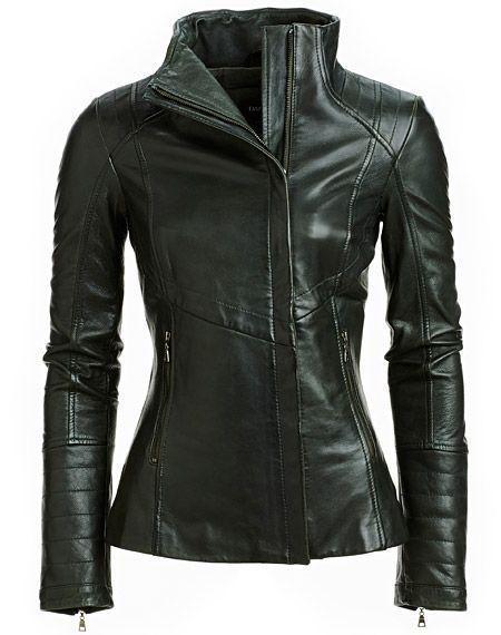 Leather Jacket Women S Black Size Womens M Coat Motorcycle Biker Moto Genuine 9