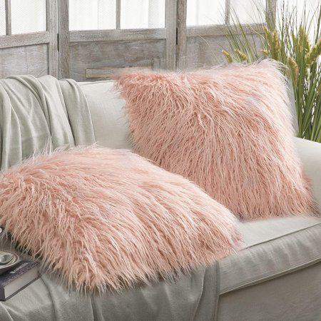 "Pottery Barn West Elm Sheepskin Fur Bed Sofa FLOOR Throw Pillow Cover Insert 30/"""