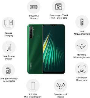 1 Realme 5i Forest Green 64 Gb 4 Gb Ram Price 8 999 4 Gb Ram 64 Gb Rom 16 56 Cm 6 52 Inch Hd Di Realme 5i Aqua Blue Best Smartphone